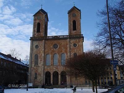 Wuppertal - Laurentiusplatz. Medieval Christmas Market, Spaghettieis, Cafes, Volkshochschule.