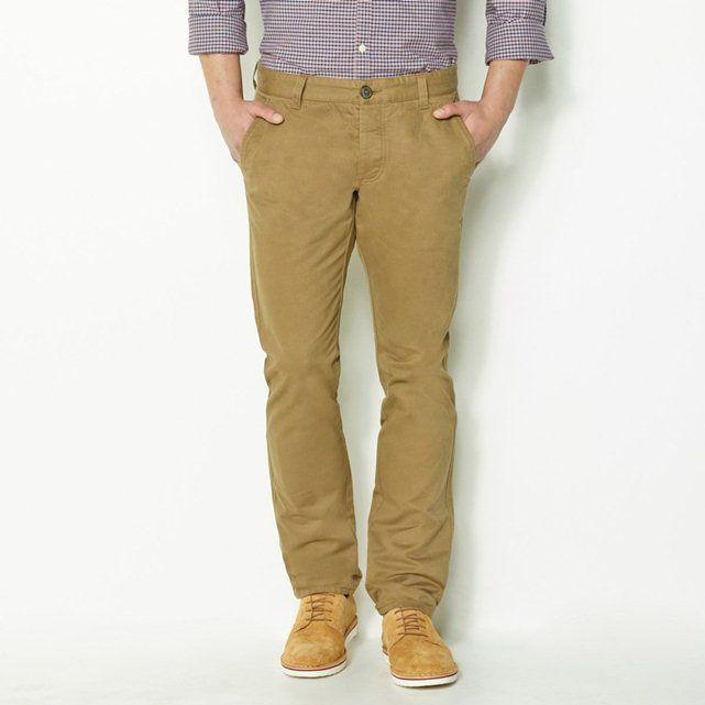 Pantalón chino, largo. 32, hombre