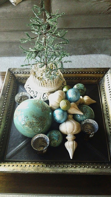 "I could make this tray out of an old picture frame and some wooden beads and an awesome paint treatment.  Great idea for a ""cell phone"" tray too!"