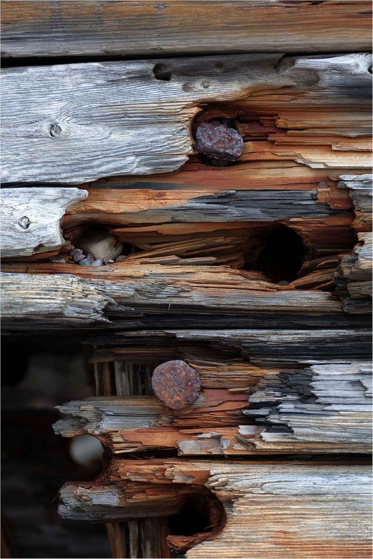 weathered. wood.