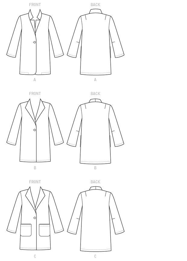 38 best Coats - EASY to Sew images on Pinterest | Factory design ...