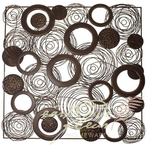 Metal Wall Art :: Abstract U0026 Contemporary :: Square Swirl And Circles In  Frame Abstract Outdoor Garden Wall Art   Shop For Home Garden Art Coastal  Decor ...