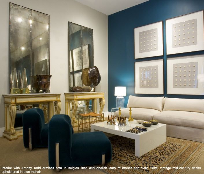 Peacock blue accent wall house home pinterest - Blue accent walls for living room ...