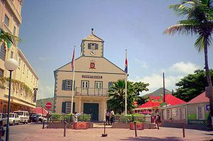 The Courthouse in Philipsburg is one of the symbols of Sint Maarten