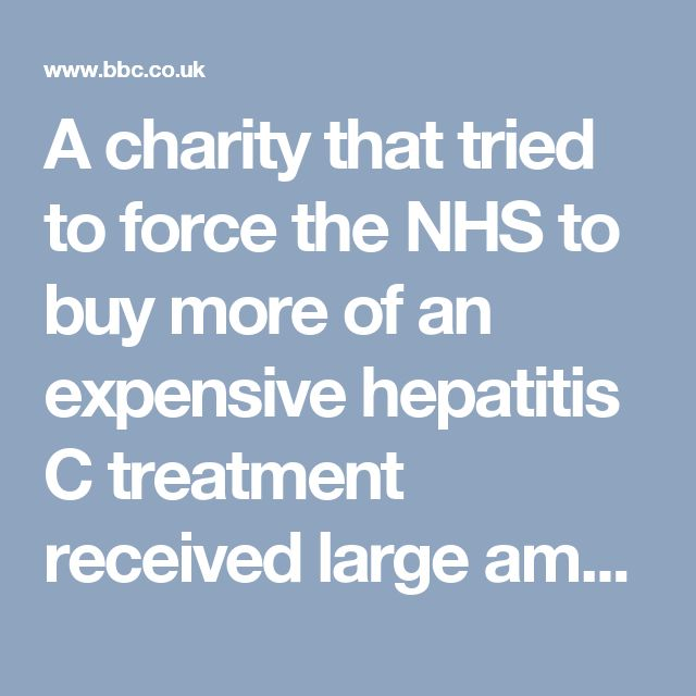 amounts of money from the drug's manufacturer, the Victoria Derbyshire show has found.  The Hepatitis C Trust has taken £200,000 in grant funding from US drugs giant Gilead since 2014.  Last year, it unsuccessfully took NHS England to court for restricting access to the medicine on cost grounds.  The charity denied being influenced by the drugs industry.  It said it had always acted in the ...