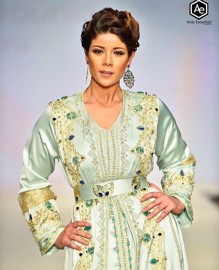 leilahadioui portant une takchita marocaine #moroccancaftan