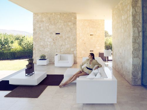 'Vondom Vela Sectional Sofa Armless Chaiselounge at @2Modern'