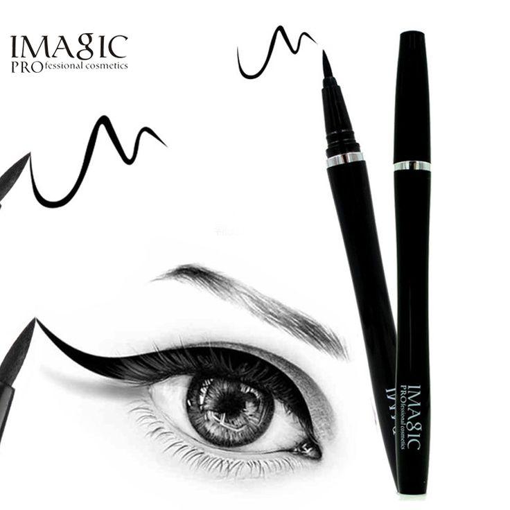 IMAGIC 1 PZ Tipo Professionale Eyeliner Liquido Impermeabile Trucco Eyeliner Naturale di Lunga Durata Per Le Donne Cosmetici di Bellezza