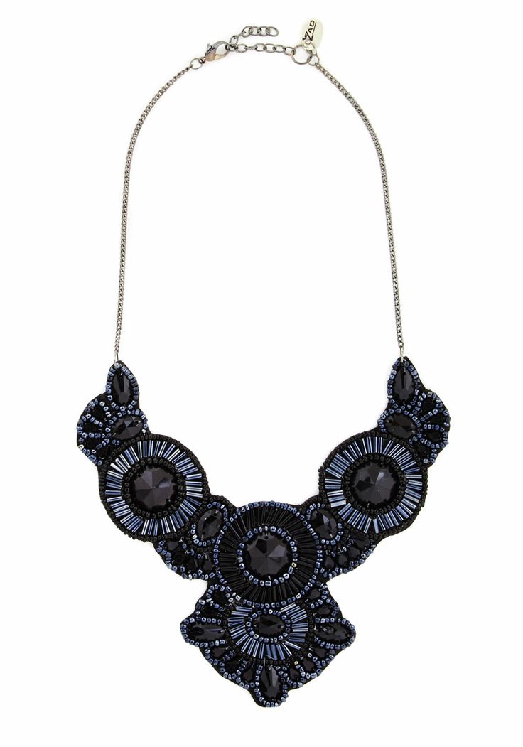 Medallion Marvel Necklace in Black, #ModCloth