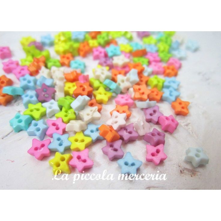 20 mini bottoni 4 mm stella stellina scrapbooking bomboniere uncinetto amigurumi