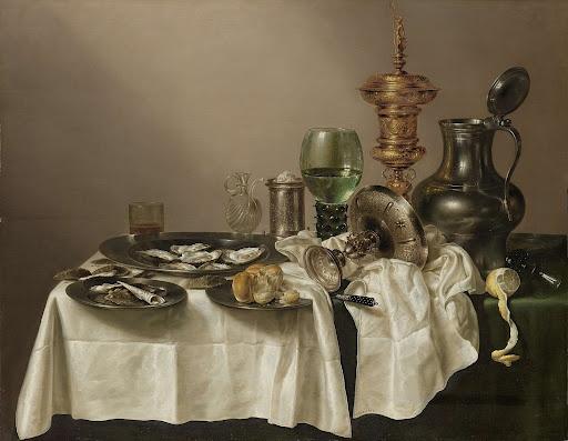 Stilleven met vergulde bokaal, Willem Claesz. Heda, 1635