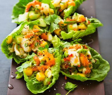 Recept: Limemarinerad torskrygg med mangoceviche