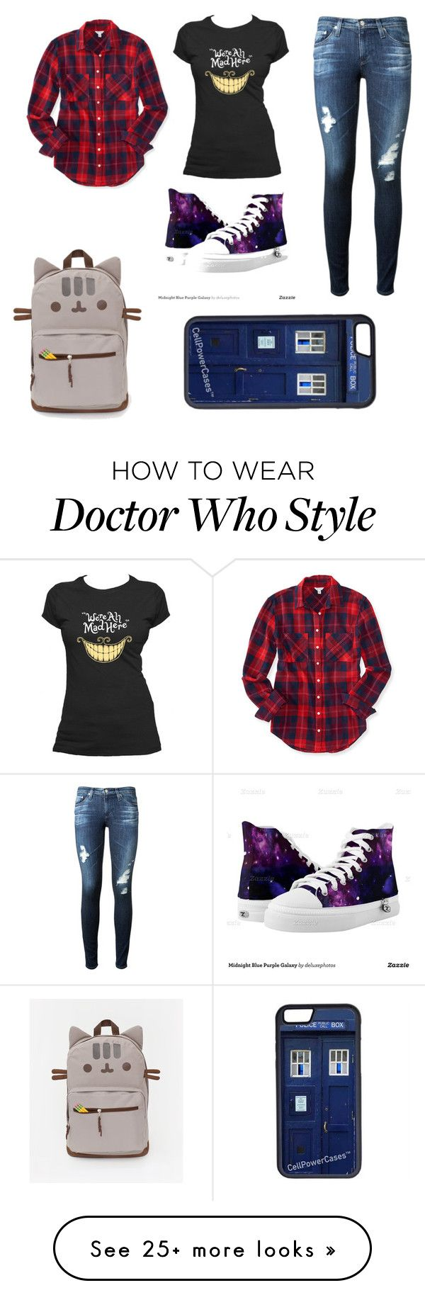 """School day"" by harlequinbunny on Polyvore featuring Aéropostale, AG Adriano Goldschmied and CellPowerCases"