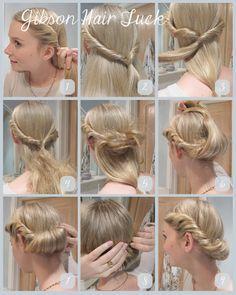 Gibson Hair Tuck - looks like Elsa's coronation hair.