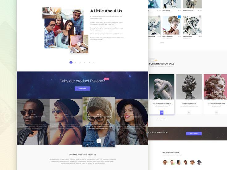 PLEIONE - Creative One Page Landing by Zaytsev Yaroslav 🐇