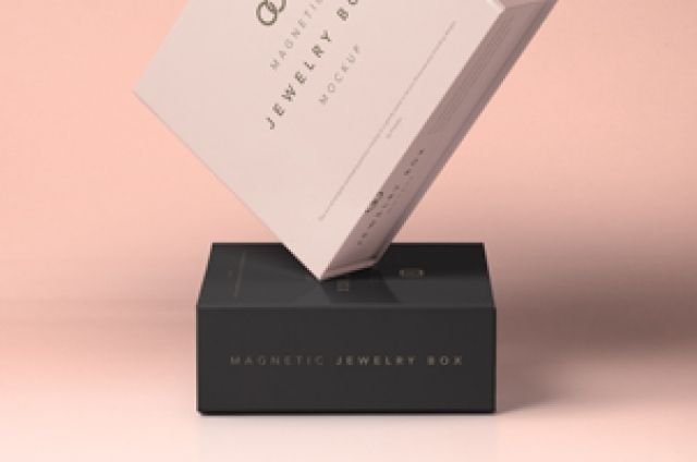 Download This Is A Set Of Beautiful Psd Jewelry Packaging Magnetic Box Mockup Easily Insert Your Own Branding Design With The Mockup Design Box Mockup Packaging Mockup