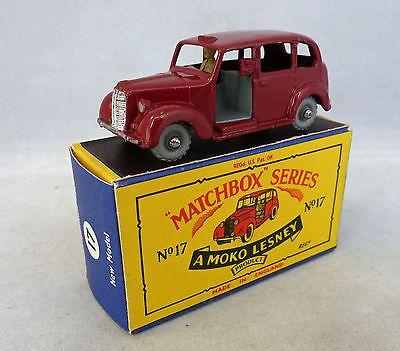 Moko Lesney Matchbox Toys MB17c Austin Taxi B Box - http://www.matchbox-lesney.com/?p=9975