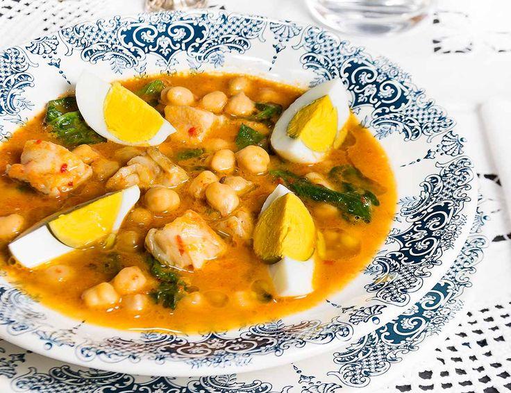 152 best guisos y tradicionales images on pinterest one - Potaje de garbanzos con bacalao ...