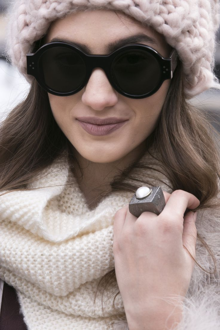 'Huntress' sterling silver and pearl ring being worn at New York Fashion Week! www.huntress.com