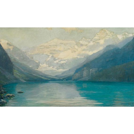 Artwork by Frederic Marlett Bell-Smith, LAKE LOUISE, VICTORIA GLACIER, Made of oil on canvas