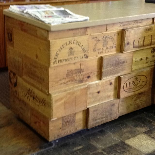 Wine box tops for a counter space