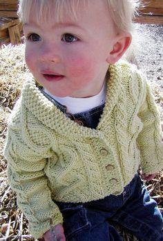 Knitty pattern: Trellis, free pattern. Pattern & images © 2005 Britta Stolfus Rueschhoff. Baby: 6 [12, 18] months