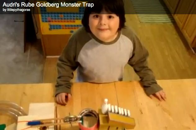 Teach your kids about the scientific method with this awesome video of a 7 year old's rube goldberg monster catcher. #science, #hypothesis, #education, #video, #parenting