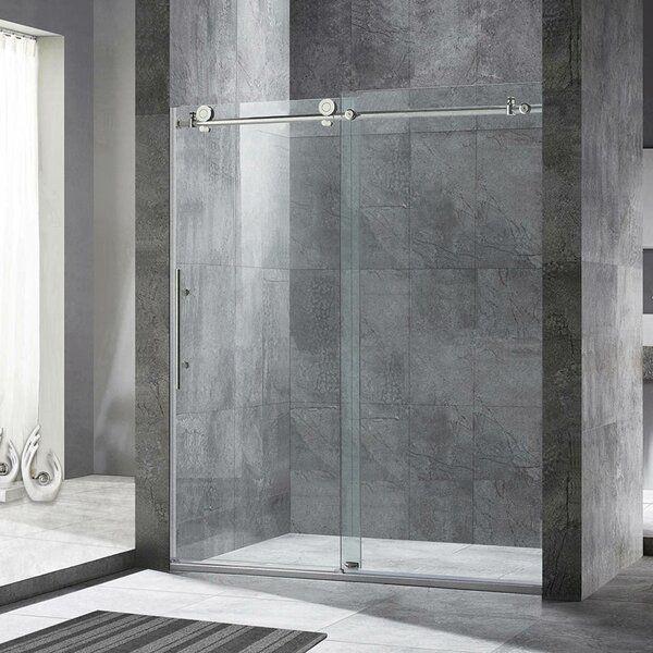 44 W X 76 H Single Sliding Frameless Shower Door Frameless Shower Doors Frameless Sliding Shower Doors Frameless Shower