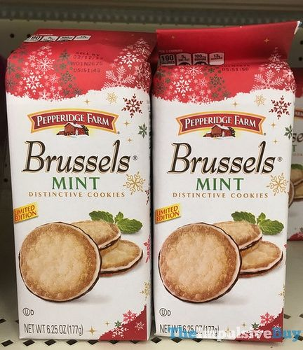 BACK ON SHELVES: Pepperidge Farm Limited Edition Brussels Mint Cookies