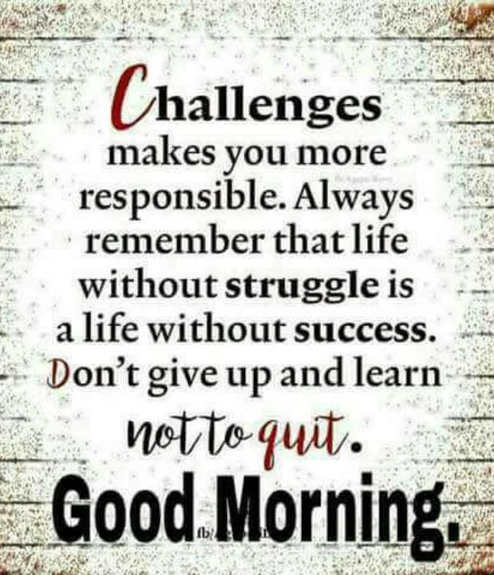 cool Good Morning Quotes Don't Give up and Learn Not to Quit