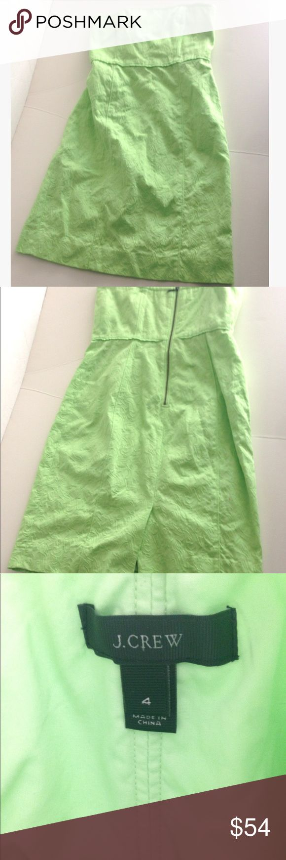 J.Crew 100% cotton beach casual strapless dress J.Crew 100% cotton beach casual strapless dress-zips in back -lined underneath. J. Crew Dresses Strapless