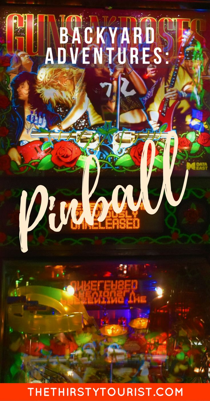 Budget Backyard Adventures: Pinball... Be sure to follow The Thirsty Tourist for our best budget Backyard Adventures!