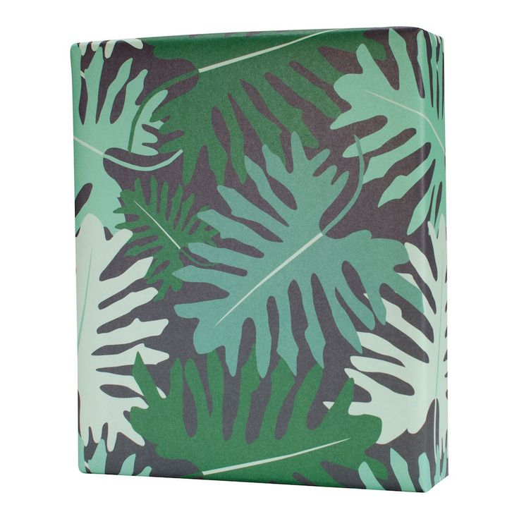 Bold pattern and chic colors to transport you to the tropics. 3 flat sheets, each 19.5 x 27 inches. Printed in the USA with vegetable-based ink on SCI certified paper.