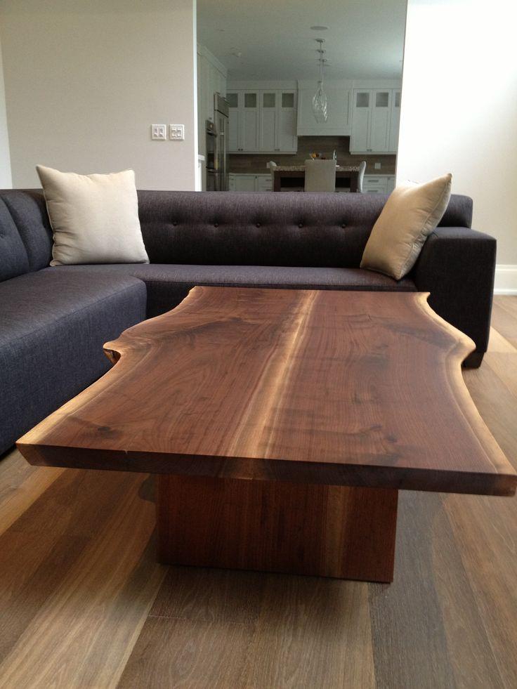 Custom Live Edge Coffee Table 6 X 4 Book Matched Walnut