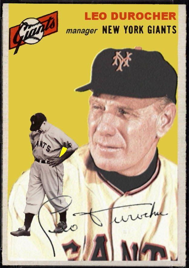 1954 Topps Leo Durocher, New York Giants, Baseball Cards That Never Were