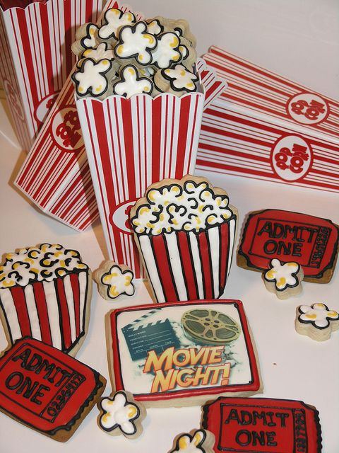 Movie night cookies I made last Fall (2009) for a friend's school function.   watch movies online watch hd movies online  free hd movies online