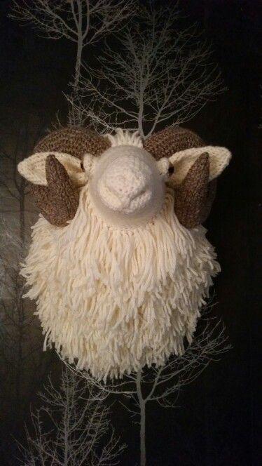 Crochet taxidermy stag head