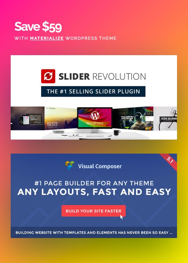 Materialize Material Design Multipurpose Wordpress Theme Design