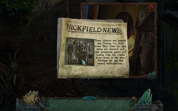 Nickfield News. Town citizens are scared and fleeing for their lives! They claim the gem mines are hunted, and that poisonous gases are coming from cracks deep down in the mine. Perhaps the gas has caused hallucinations… More on google: https://docs.google.com/document/d/1Nt_O9pxWTHSfAd5Gwsj-C2-3o7IxgiW1H4vBinuHyDY/edit
