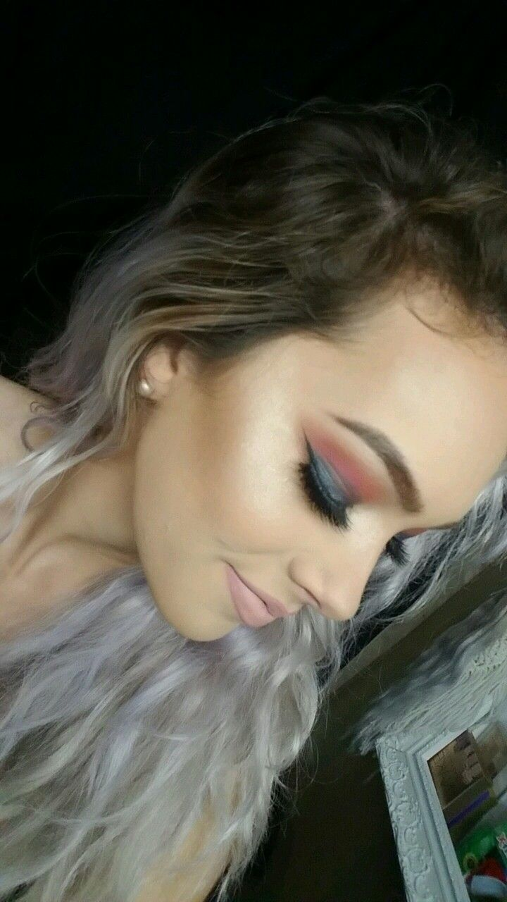 Platinum - Icy - Silver - Lilac hair, lighting changing hair color. Colorful Teal and pink smokey eye using tarteist palette. Nyx matte shy timide on lips. Huda beauty lashes. Lorac pro contour palette. Anastisia beverly hills glow kit highlight. Brittany Brinson on Insta, snap &YouTube @bkelly8801