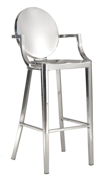 Round back bar and counter stool with arm  sc 1 st  Pinterest & 8 best Restaurant project - Stainless Steel Chairs Bar Stools and ... islam-shia.org