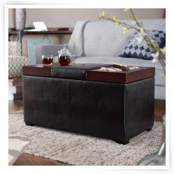 Belham Living Madison Lift Top Upholstered Storage Ottoman