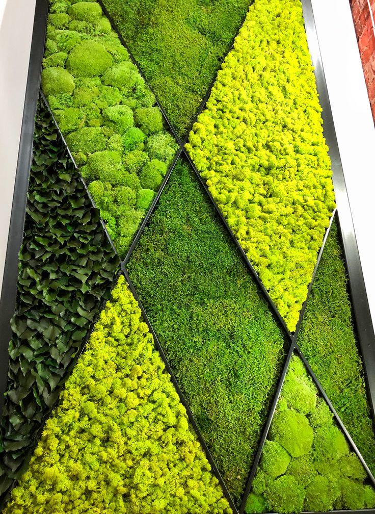 Zielony obraz z mchu stabilizowanego i chrobotka. #moss #polemoss #mech #mosswall #style #designe #decorations