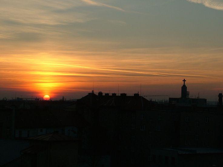 Západ slunce nad Hradcem.
