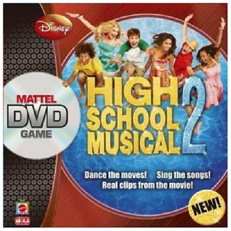 DISNEY HIGH SCHOOL MUSICAL 2 DVD BOARD GAME BY MATTEL NEW & SEALED DANCE SING