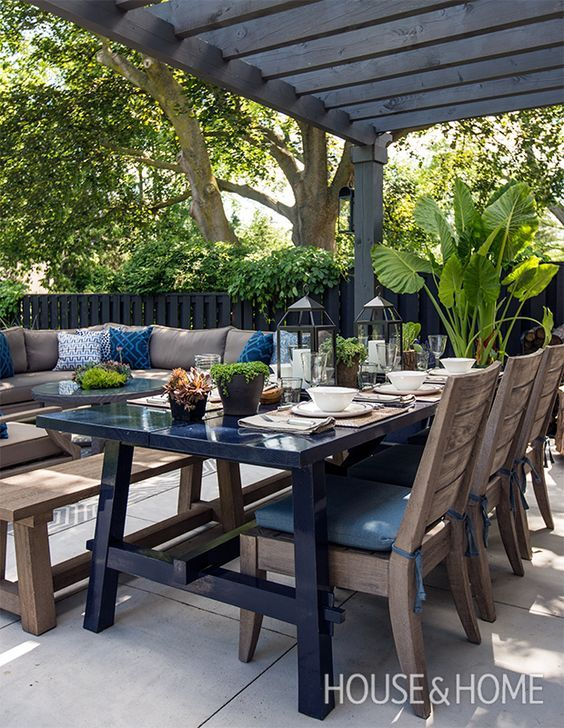 Comedores para jardines modernos.muebles para terraza pequeña ...