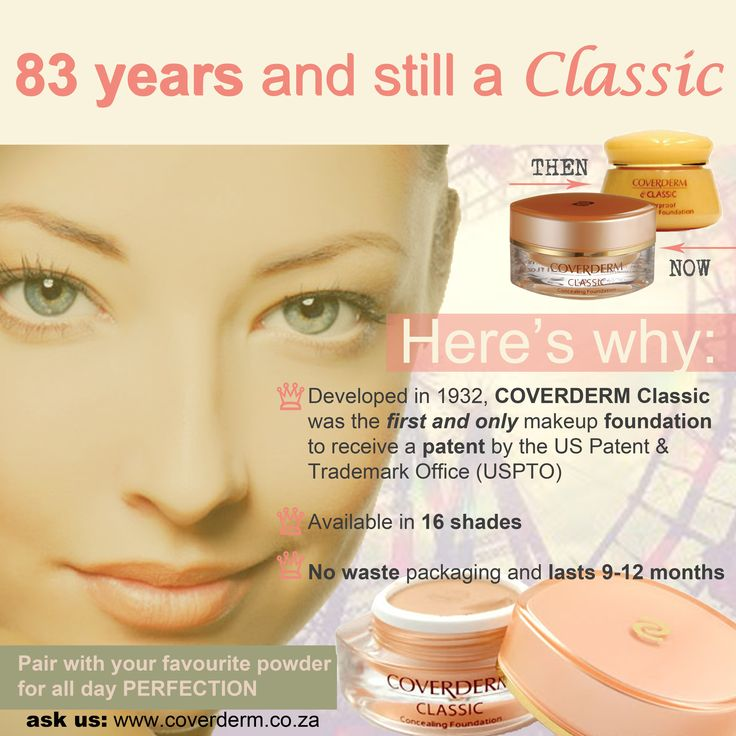 COVERDERM Classic foundation: ♥ waterproof ♥ non-comedogenic ♥ perfection all day!