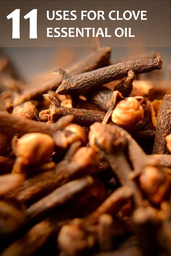 Clove oil has been used for centuries for medicinal purposes in Chinese and Indian culture. There are many benefits including helping with tooth aches.