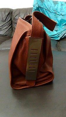 Sac LUPO Barcelona Abanico Cuir Leather Shoulder Handbag 250€ Like NEW!!