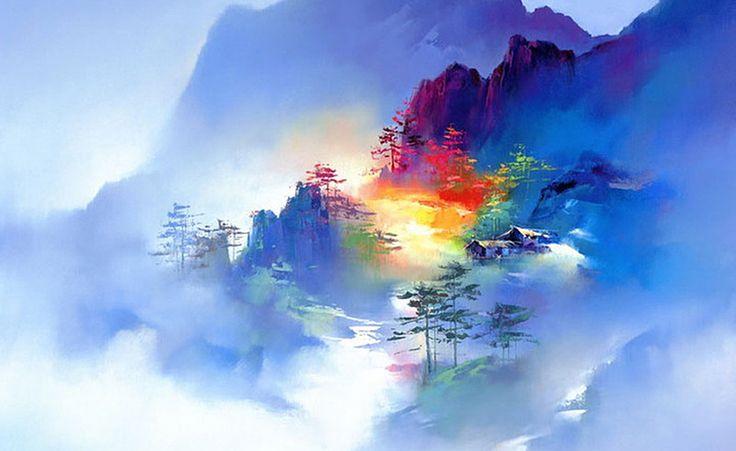 Artist: Ken Hong Leung Китайско-американский художник Кен Хонг Лунг тонко чувствует цвет и умеет передать магию покоя. Его рыбацкие деревни и пейзажи берегов стали сенсацией в художественных кругах Гонконга. Кен считается одним из лучших мировых художников-неоимпрессионистов. Его называют хозяином заколдованных пейзажей, мечтательных настроений и магических отражений света и цвета.